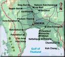 Karta centrala Thailand